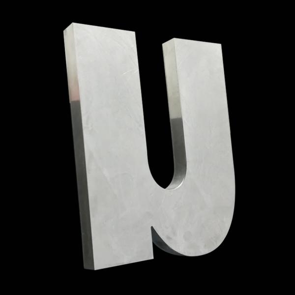 LETTRE BOITIER - Relief alu et face alu en 2mm - 30 hauteur 50cm et relief 70mm d'ep