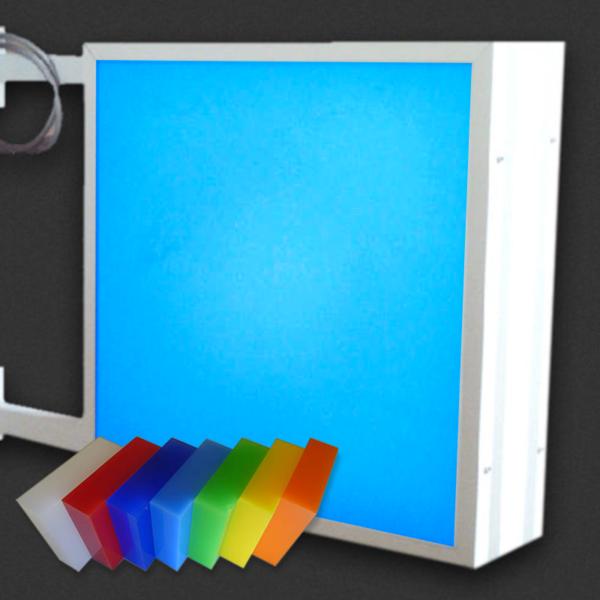 Caisson double faces 1.3 Altuglas de couleur diffusant R.152